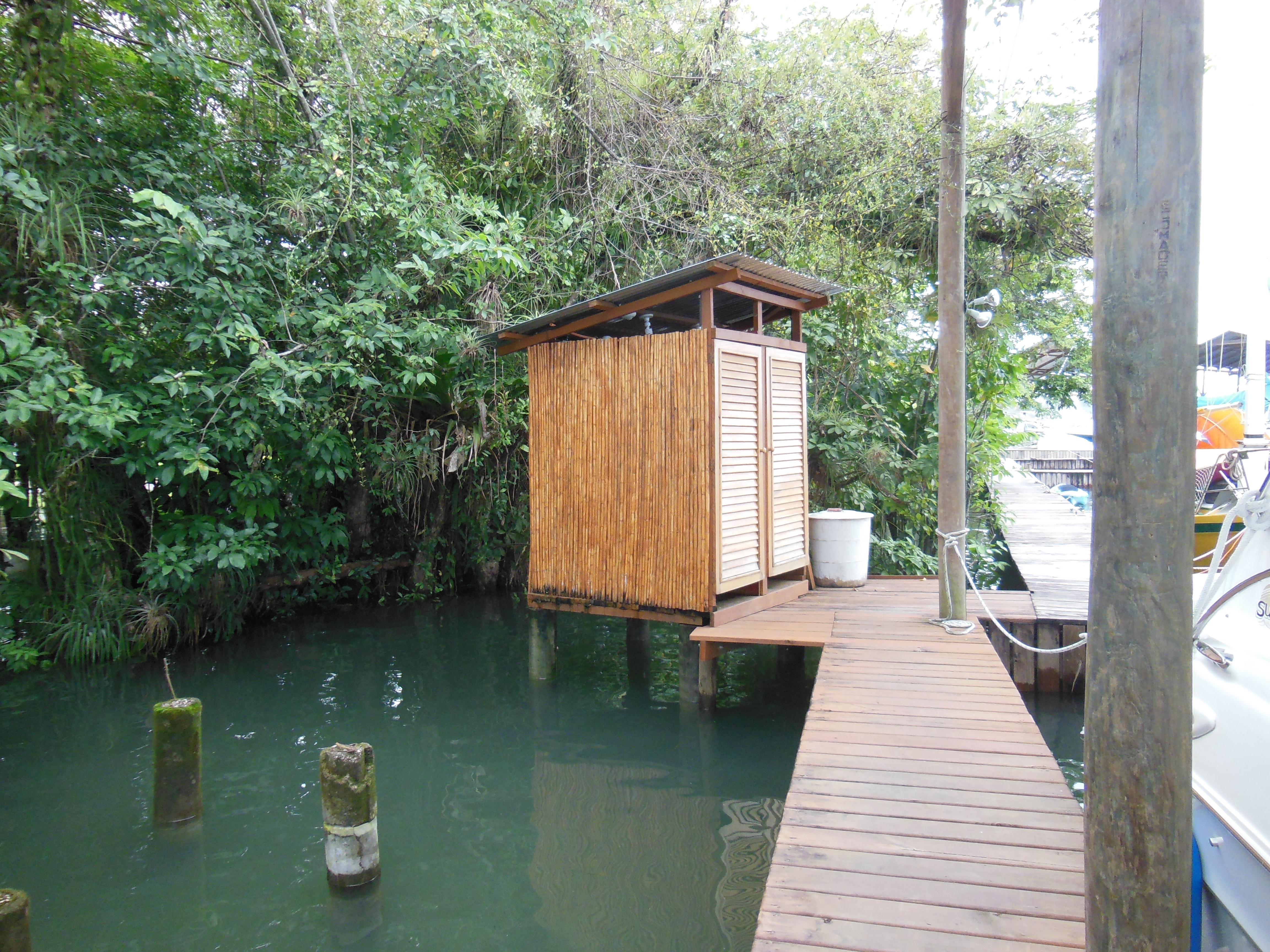 Bamboo shower shack