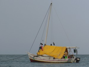 Local fishing boat
