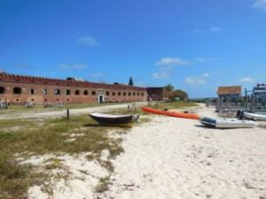 Dinghy landing at Fort Jefferson