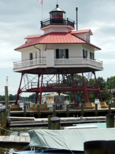 Restored lighthouse at the museum