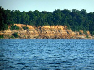 Limestone cliffs near Herring Bay