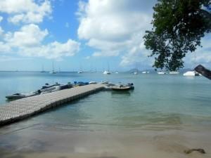 Floating dinghy dock