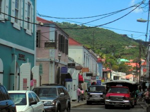 Main shopping street in Charlotte Amalie