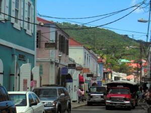 Main shopping street in Charlotte Amalie
