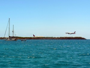 The busy runway at Brewer's Bay