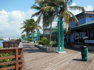 The boardwalk on a weekday