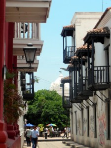A typical sidestreet in Santa Marta