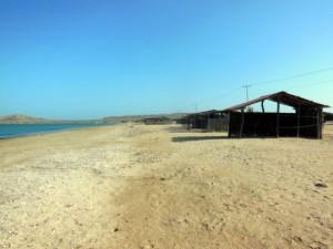 A deserted desert beach