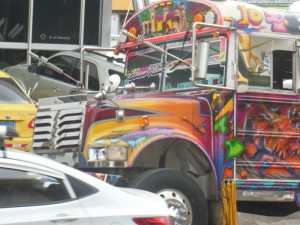 An amazing bus in Sabanitas