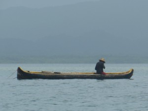 A fisherman in his ulu