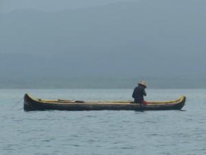 A fisherman in his ulu