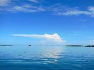 Looking back towards Green Island