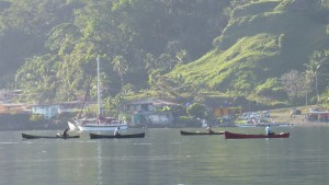 Portobelo fishermen in the early morning light