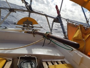 Jury rigged self-steering